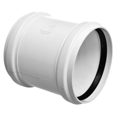 Cupla PVC junta elástica HH 110 mm