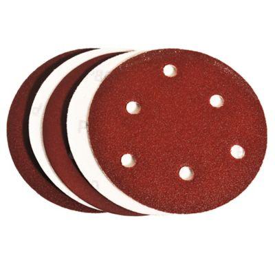 Pack de 5 discos de lija para madera y matal con velcro 125 mm grano surtido