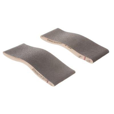Pack de 2 bandas de lija para madera y metal 75 x 457 mm grano fino
