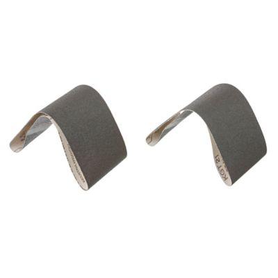 Pack de 2 bandas de lija para madera y metal 75 x 533 mm grano fino