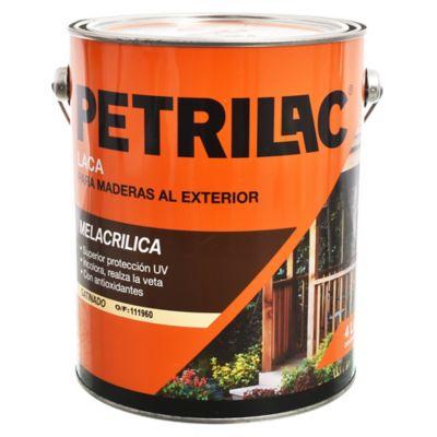 Laca Melacrílica para madera exterior satinado incolora 4 L
