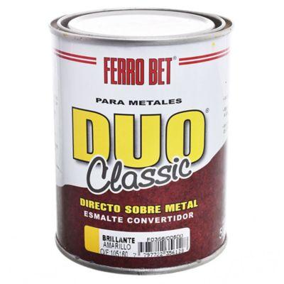 Esmalte Convertidor Ferro Bet Dúo Classic amarillo 500 ml