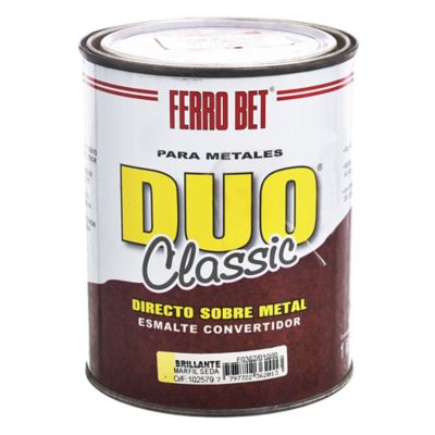 Esmalte Convertidor Ferro Bet Dúo Classic marfil seda 1 L