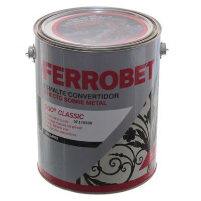 Esmalte Convertidor Ferro Bet Dúo Classic gris 4 L
