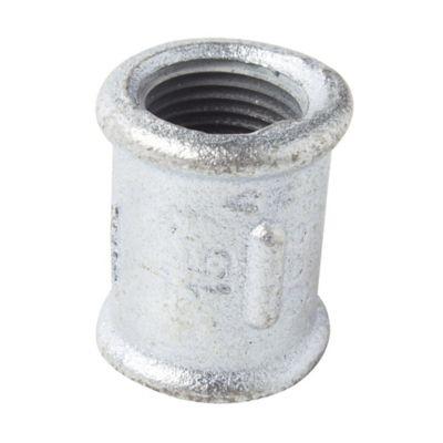 """Cupla con Borde galvanizado HH 1/2"""""""