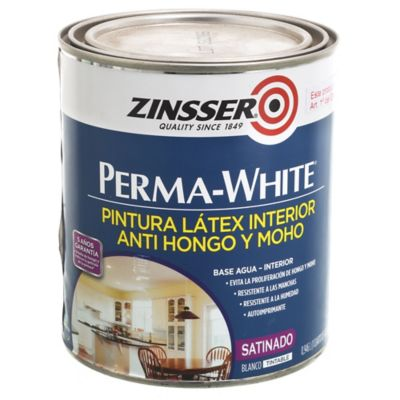 Pintura látex Perma-White antihongos y moho interior satinado blanco 1 L