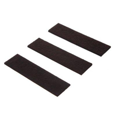 Fieltro adhesivo Tira 3 x 9 cm marrón por 3 unidades