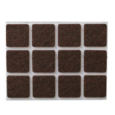 Fieltro adhesivo rectangular 9 x 9 cm beige