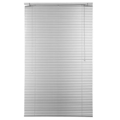 Persiana de aluminio 100 x 165 cm plateada