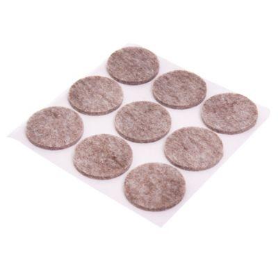 Fieltro adhesivo circular 28 mm beige por 9 unidades