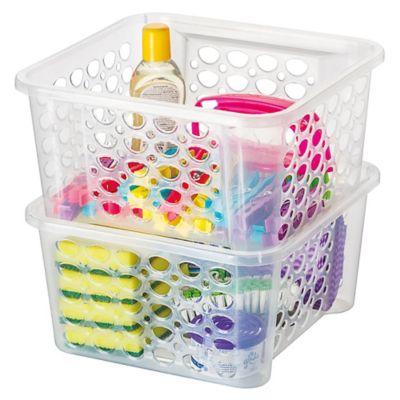 Canasto organizador de plástico transparente 6,3 L