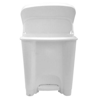 Basurero 15 L de plástico blanco con pedal