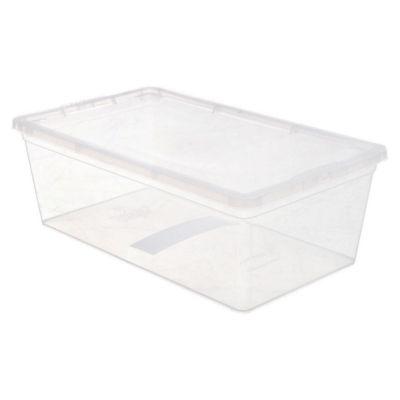 Caja organizadora de plástico con tapa Modubox transparente 6 L