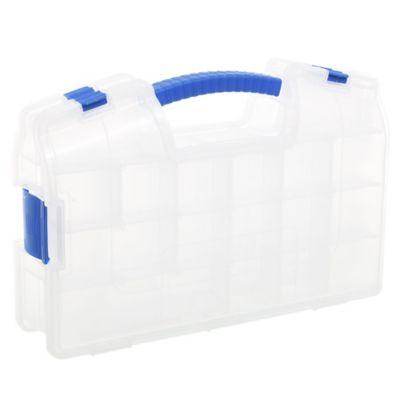 Caja organizadora de plástico doble plegable