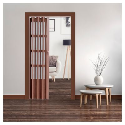 Puerta plegable Lugano caoba 90 x 200 cm derecha/izquierda
