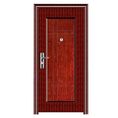 Puerta de seguridad Line marrón 90 x 200 x 10 cm izquierda