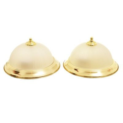 Pack de 2 plafones Teresa dorado 2 luces E27