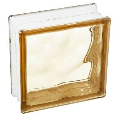 Ladrillo de vidrio nublado marrón