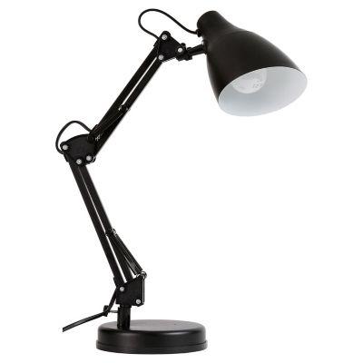 Lámpara de escritorio articulada negra 1 luz E27