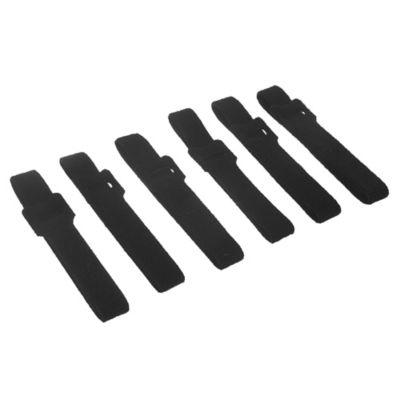 Precinto sujeta cable 300 mm negro 6 unidades