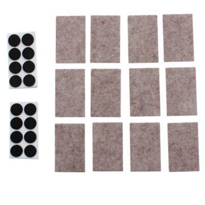 Fieltro adhesivo surtido begro de 28 unidades