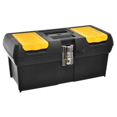 """Caja de herramientas plástica 16"""" con organizador"""