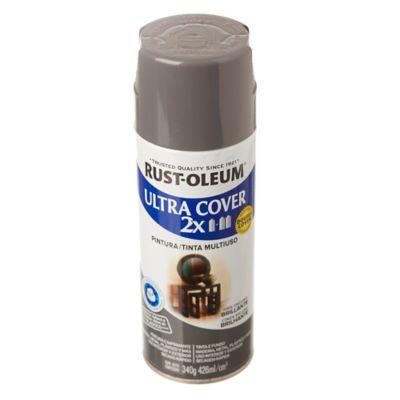 Aerosol Ultra Cover 2x gris oscuro brillante 340 gr