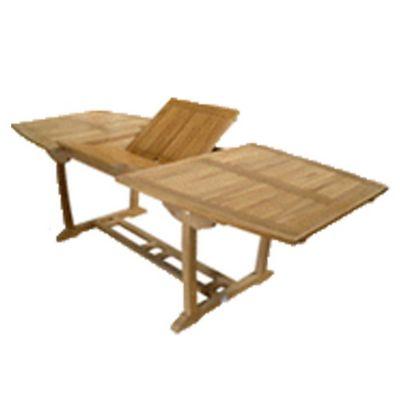 Mesa de jardín Sitges de madera extensible rectangular natural