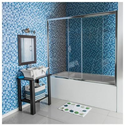 Mampara sobre bañera ajustable 150 a 170 x 150 cm
