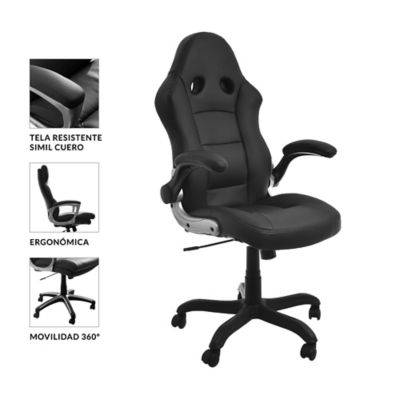 Silla de oficina Senna negra