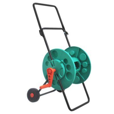 Enrollador de mangueras con ruedas