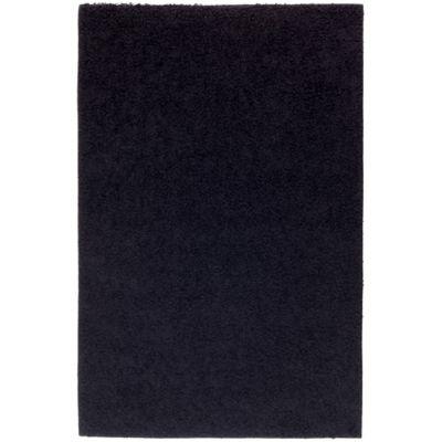 Alfombra Conrad Shaggy 133 x 200 cm negra