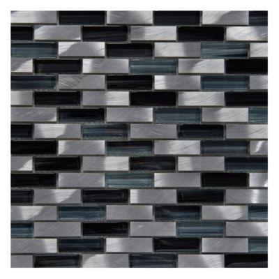 Rectángulo aluminio y vidrio ray gris