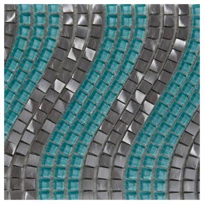 Onda aluminio y vidrio turquesa
