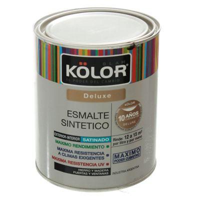 Esmalte sintético Deluxe satinado blanco 1 L