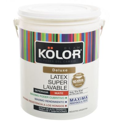 Pintura látex Deluxe superlavable interior mate blanco 4 L