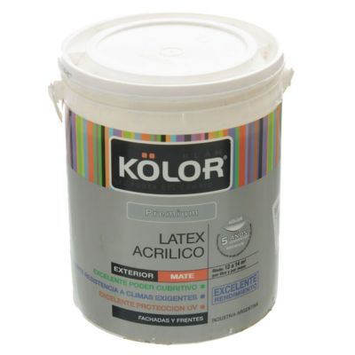 Pintura látex Premium exterior mate blanco 4 L