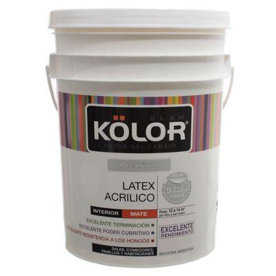 Pintura látex Premium interior mate blanco 20 L