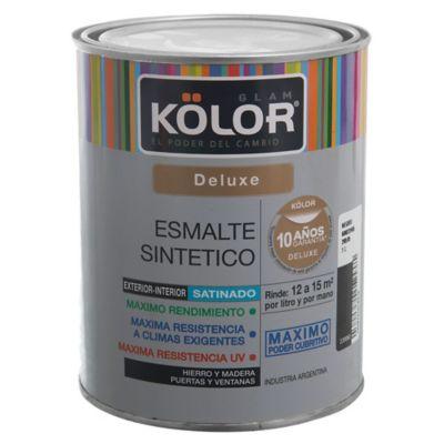 Esmalte sintético Deluxe satinado negro 1 L