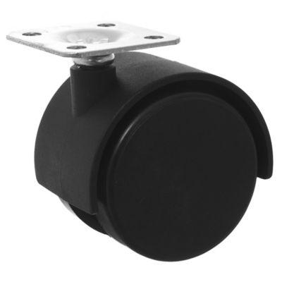 Rueda Plast Dual 53 mm C/Base