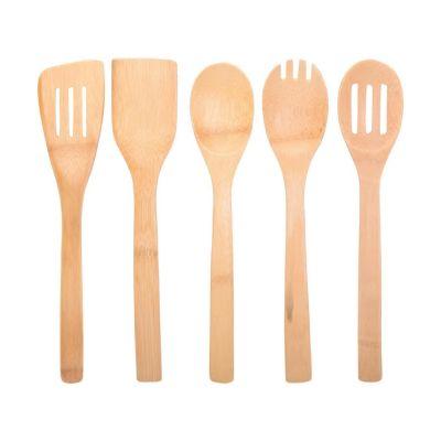 Set de 5 utensilios de bambú