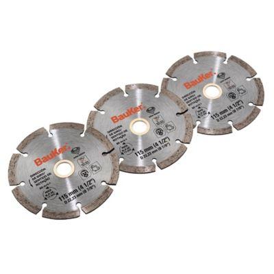 Pack de 3 discos diamantado 115 mm