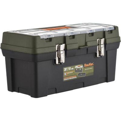 """Caja de herramientas plástica 20"""" con organizador"""