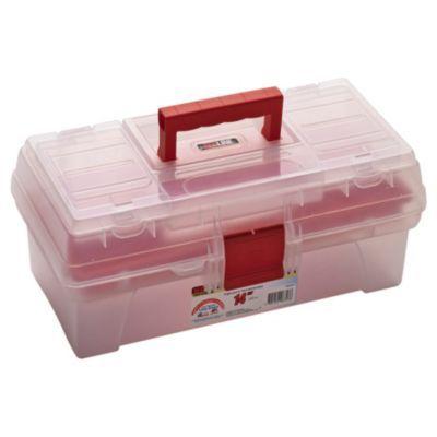 """Caja de herramientas plástica 14"""" con organizador"""