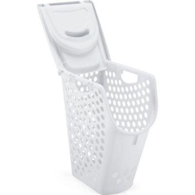 Canasto organizador de plástico con tapa blanco 50 L