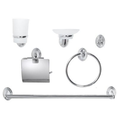 Set accesorios Turín cromo 6 piezas