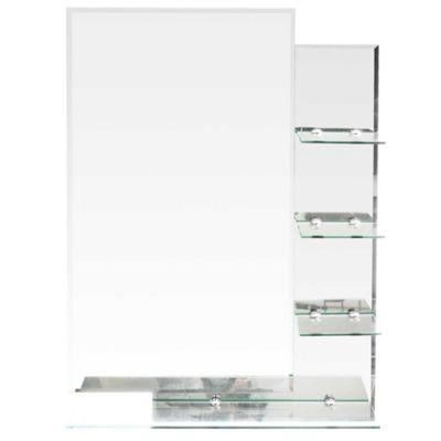 Espejo para baño con repisas 70 x 50 cm