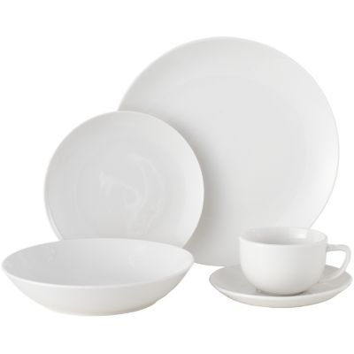 Juego de vajilla redondo de porcelana 30 piezas