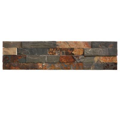 Revestimiento piedra 50 x 18 cm gris óxido 0,90 m2