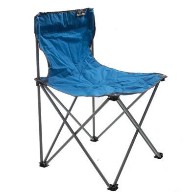 Silla de camping plegable azul